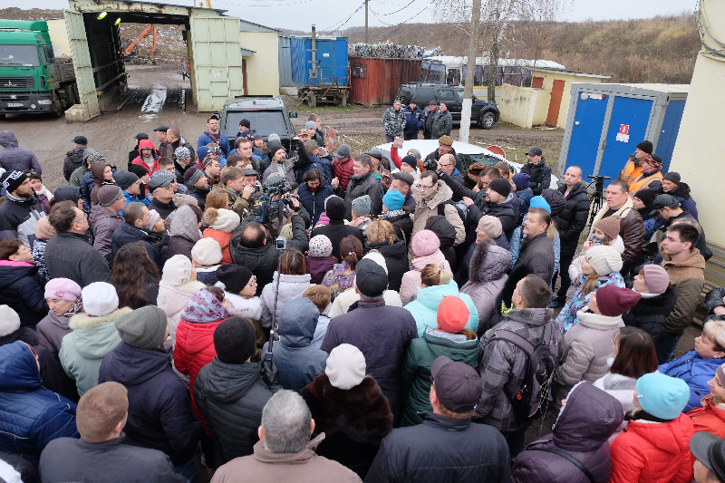 Денис Лебедев на полигоне ТБО Воловичи, Коломна, 18 ноября 2017